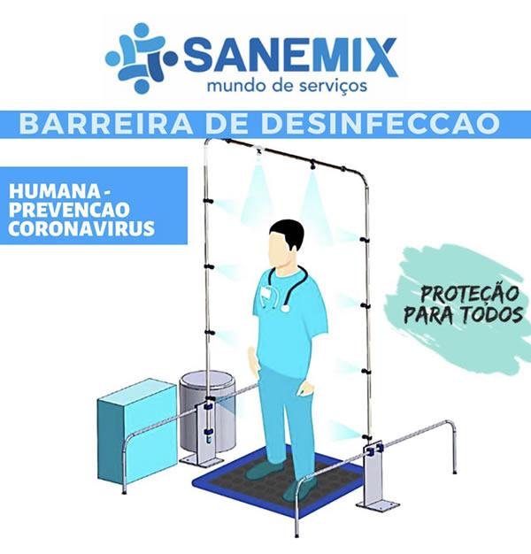 Arco de desinfecção humana