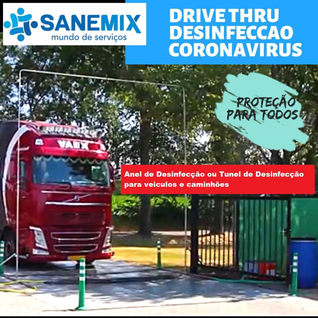 Anel de Sanitização de Veículos